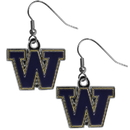 Siskiyou Buckle CDE49N Washington Huskies Chrome Dangle Earrings