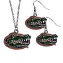 Siskiyou Buckle Florida Gators Dangle Earrings and Chain Necklace Set, CDE4CN