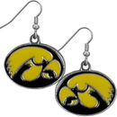 Siskiyou Buckle CDE52N Iowa Hawkeyes Chrome Dangle Earrings