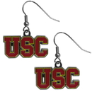 Siskiyou Buckle CDE53N USC Trojans Chrome Dangle Earrings