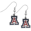 Siskiyou Buckle CDE54N Arizona Wildcats Chrome Dangle Earrings