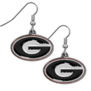 Siskiyou Buckle CDE5N Georgia Bulldogs Chrome Dangle Earrings