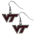 Siskiyou Buckle CDE61N Virginia Tech Hokies Chrome Dangle Earrings