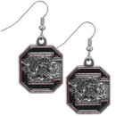 Siskiyou Buckle CDE63N S. Carolina Gamecocks Chrome Dangle Earrings