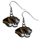 Siskiyou Buckle CDE67N Missouri Tigers Chrome Dangle Earrings