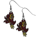 Siskiyou Buckle CDE68N Arizona St. Sun Devils Chrome Dangle Earrings