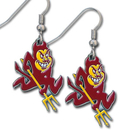 Siskiyou Buckle CDE68 Arizona St. Sun Devils Dangle Earrings