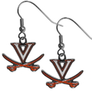Siskiyou Buckle CDE78N Virginia Cavaliers Chrome Dangle Earrings