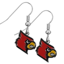 Siskiyou Buckle CDE88N Louisville Cardinals Chrome Dangle Earrings