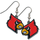 Siskiyou Buckle CDE88 Louisville Cardinals Dangle Earrings