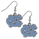Siskiyou Buckle CDE9N N. Carolina Tar Heels Chrome Dangle Earrings