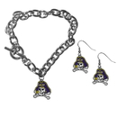 Siskiyou Buckle East Carolina Pirates Chain Bracelet and Dangle Earring Set, CDEN102CBR