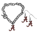 Siskiyou Buckle Alabama Crimson Tide Chain Bracelet and Dangle Earring Set, CDEN13CBR