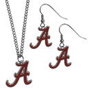 Siskiyou Buckle Alabama Crimson Tide Dangle Earrings and Chain Necklace Set, CDEN13CN