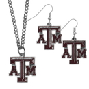 Siskiyou Buckle Texas A & M Aggies Dangle Earrings and Chain Necklace Set, CDEN26CN
