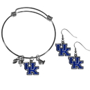 Siskiyou Buckle Kentucky Wildcats Dangle Earrings and Charm Bangle Bracelet Set, CDEN35CBB
