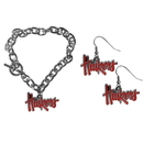 Siskiyou Buckle Nebraska Cornhuskers Chain Bracelet and Dangle Earring Set, CDEN3CBR