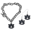 Siskiyou Buckle Auburn Tigers Chain Bracelet and Dangle Earring Set, CDEN42CBR