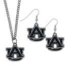 Siskiyou Buckle Auburn Tigers Dangle Earrings and Chain Necklace Set, CDEN42CN