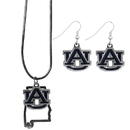 Siskiyou Buckle Auburn Tigers Dangle Earrings and State Necklace Set, CDEN42SN