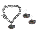Siskiyou Buckle Florida Gators Chain Bracelet and Dangle Earring Set, CDEN4CBR