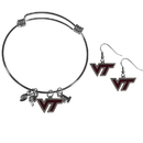 Siskiyou Buckle Virginia Tech Hokies Dangle Earrings and Charm Bangle Bracelet Set, CDEN61CBB