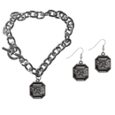 Siskiyou Buckle S. Carolina Gamecocks Chain Bracelet and Dangle Earring Set, CDEN63CBR