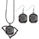Siskiyou Buckle S. Carolina Gamecocks Dangle Earrings and State Necklace Set, CDEN63SN
