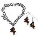 Siskiyou Buckle Arizona St. Sun Devils Chain Bracelet and Dangle Earring Set, CDEN68CBR