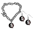 Siskiyou Buckle Florida St. Seminoles Chain Bracelet and Dangle Earring Set, CDEN7CBR