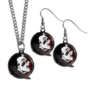 Siskiyou Buckle Florida St. Seminoles Dangle Earrings and Chain Necklace Set, CDEN7CN