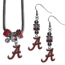 Siskiyou Buckle Alabama Crimson Tide Euro Bead Earrings and Necklace Set, CEBE13BNK