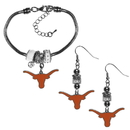 Siskiyou Buckle Texas Longhorns Euro Bead Earrings and Bracelet Set, CEBE22BBR