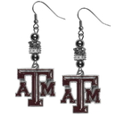 Siskiyou Buckle Texas A & M Aggies Euro Bead Earrings, CEBE26