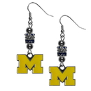 Siskiyou Buckle Michigan Wolverines Euro Bead Earrings, CEBE36