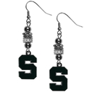 Siskiyou Buckle Michigan St. Spartans Euro Bead Earrings, CEBE41