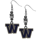 Siskiyou Buckle Washington Huskies Euro Bead Earrings, CEBE49