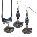 Siskiyou Buckle Florida Gators Euro Bead Earrings and Necklace Set, CEBE4BNK