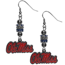 Siskiyou Buckle Mississippi Rebels Euro Bead Earrings, CEBE59
