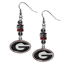 Siskiyou Buckle Georgia Bulldogs Euro Bead Earrings, CEBE5