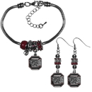 Siskiyou Buckle S. Carolina Gamecocks Euro Bead Earrings and Bracelet Set, CEBE63BBR