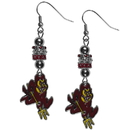 Siskiyou Buckle Arizona St. Sun Devils Euro Bead Earrings, CEBE68