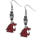 Siskiyou Buckle Washington St. Cougars Euro Bead Earrings, CEBE71