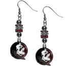 Siskiyou Buckle Florida St. Seminoles Euro Bead Earrings, CEBE7