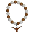 Siskiyou Buckle CFBB22 Texas Longhorns Fan Bead Bracelet