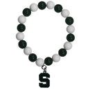 Siskiyou Buckle CFBB41 Michigan St. Spartans Fan Bead Bracelet