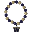 Siskiyou Buckle CFBB49 Washington Huskies Fan Bead Bracelet