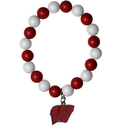 Siskiyou Buckle CFBB51 Wisconsin Badgers Fan Bead Bracelet