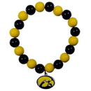 Siskiyou Buckle Iowa Hawkeyes Fan Bead Bracelet, CFBB52