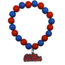 Siskiyou Buckle CFBB59 Mississippi Rebels Fan Bead Bracelet